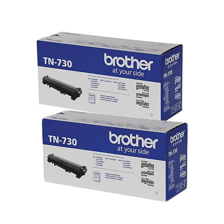 Brother TN730 Black Original Standard Capacity Toner Cartridges Twin Pack