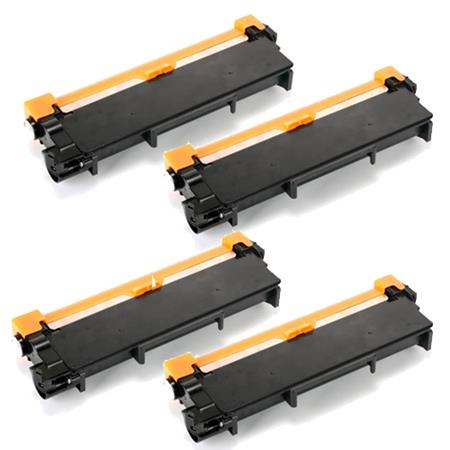 Compatible Quad Pack Brother TN660 Black Toner Cartridges