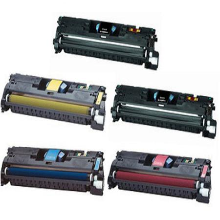 Q3960A/63A Full Set + 1 EXTRA Black Remanufactured Toner Cartridge