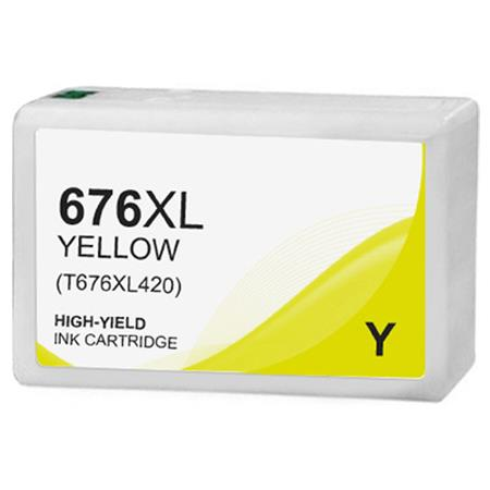 Epson T676XL (T676XL420) Yellow Remanufactured High Capacity Ink Cartridge