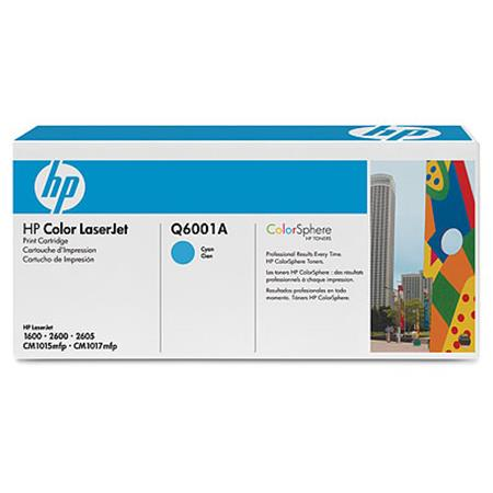HP Color LaserJet Q6001A Cyan Original Print Cartridge with Smart Printing Technology