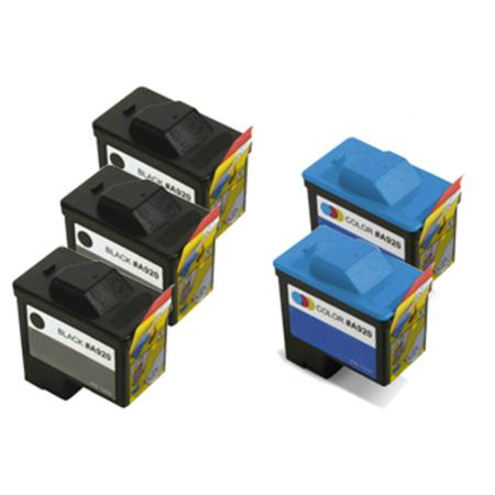 Compatible Multipack Dell T0529/T0530 2 Full Set + 1 EXTRA Inkjet Cartridges
