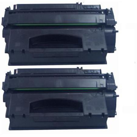 49A Black Remanufactured Toner Cartridges Twin Pack