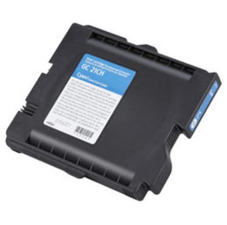 Compatible Cyan Ricoh 405533 Ink Cartridge (Replaces GC21C)