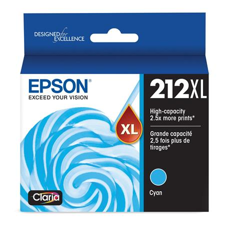 Epson 212XL (T212XL220) Cyan Original High Capacity Ink Cartridge