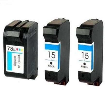 Compatible Multipack HP 15/78 Full Set + 1 EXTRA Black Ink Cartridges
