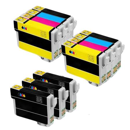 288XL 2 Full Set + 3 EXTRA Black Remanufactured Inks