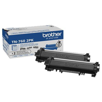 Brother TN760 Black Original High Capacity Toner Cartridge Multipack - Twin Pack