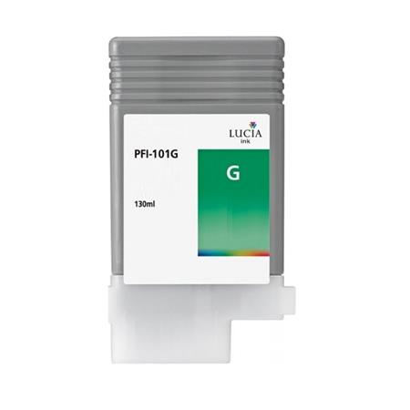 Compatible Green Canon PFI-101G Ink Cartridge (Replaces Canon 0890B001AA)