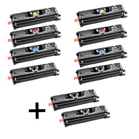 C9700A/03A 2 Full Sets + 2 EXTRA Black Remanufactured Toner Cartridge