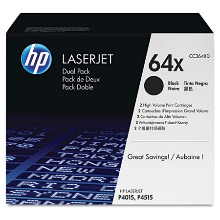 HP 64X Black Original High Capaciy Toner Cartridges (Twin Pack)