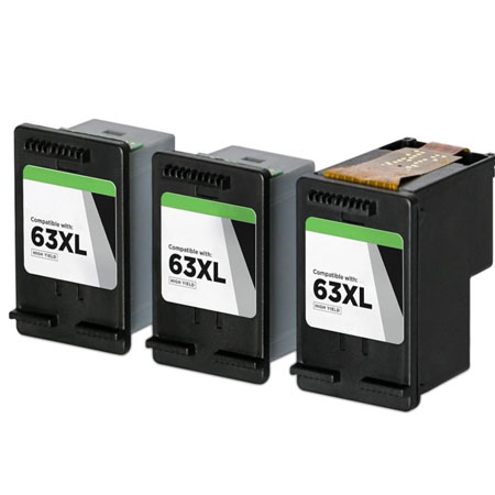 Compatible Black HP 63XL High Yield Ink Multipack (Replaces 3 x F6U64AN + 1 x Printhead)