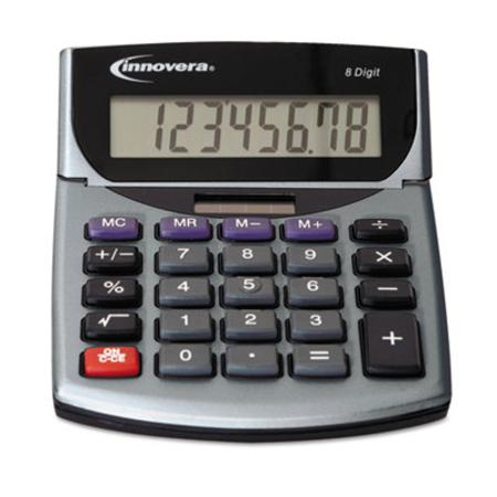 15925 Portable Minidesk Calculator 8-Digit LCD