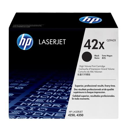 HP LaserJet 42X (Q5942X) Black Original High Capacity Print Cartridge with Smart Printing Technology
