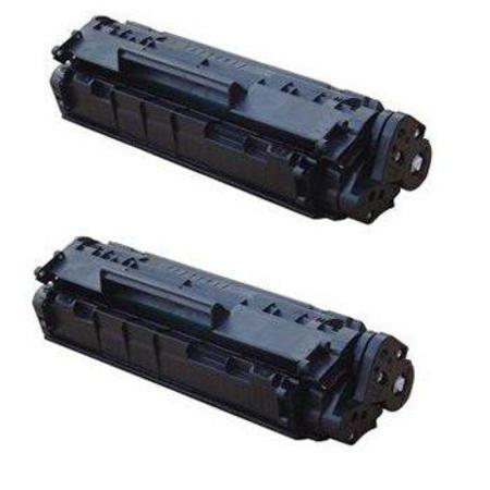 12A Black Remanufactured Toner Cartridges Twin Pack