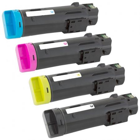 Compatible Multipack Dell 593-BBOW/BBOX/BBOY/BBOZ Full Set Toner Cartridges
