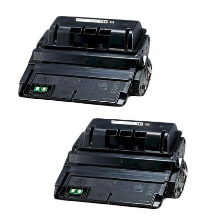 Clickinks 42A Black Remanufactured Micr Toner Cartridges Twin Pack