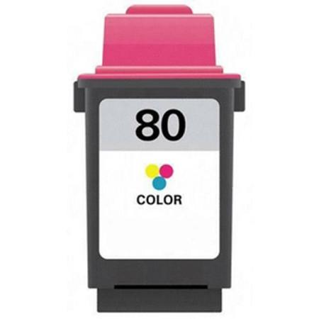 Compatible Color Lexmark No.80 Standard Yield Ink Cartridge (Replaces Lexmark 12A1980-SAM)