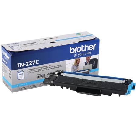 Brother TN227C Cyan Original High Capacity Toner Cartridge