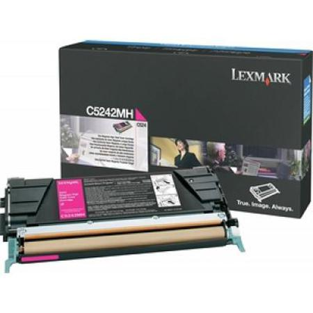 Lexmark C5242MH Original Magenta High Yield Toner Cartridge