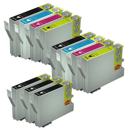 T0431/424 2 Full Sets + 3 EXTRA Black Remanufactured Inks