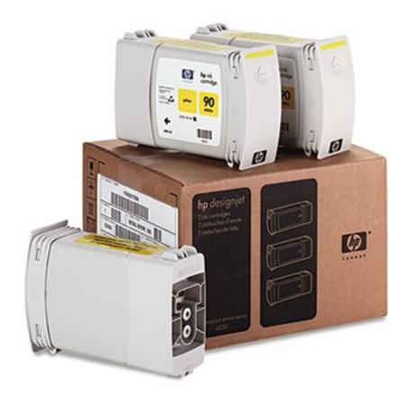 HP 90 (C5085A) Original Yellow High Capacity Ink Cartridge (3Pcs)