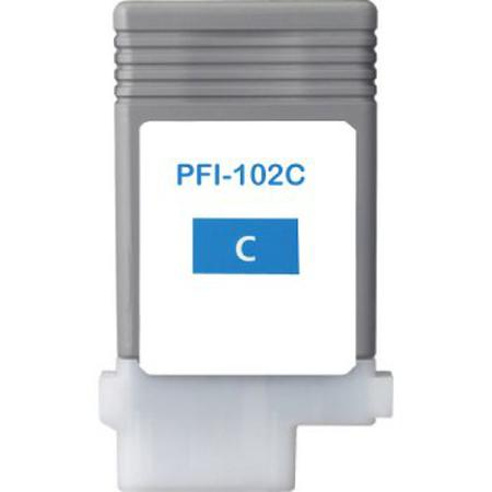 Compatible Cyan Canon PFI-102C Ink Cartridge (Replaces Canon 0896B001AA)