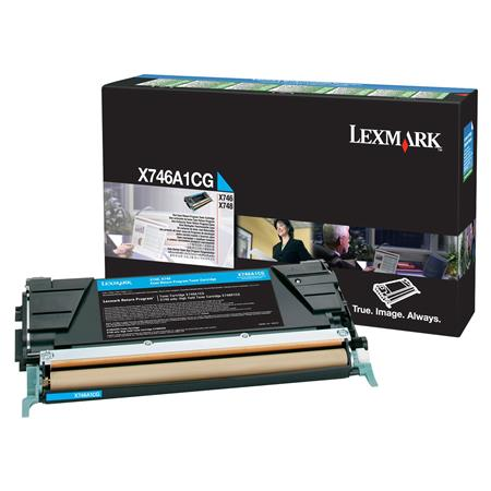 Lexmark X746A1CG Cyan Original Standard Capacity Return Program Toner Cartridge