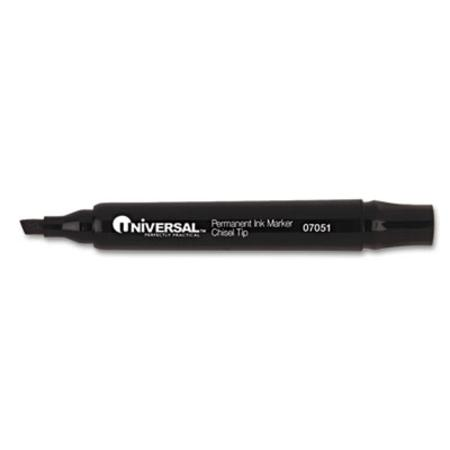 Permanent Markers Chisel Tip Black 12/Pack