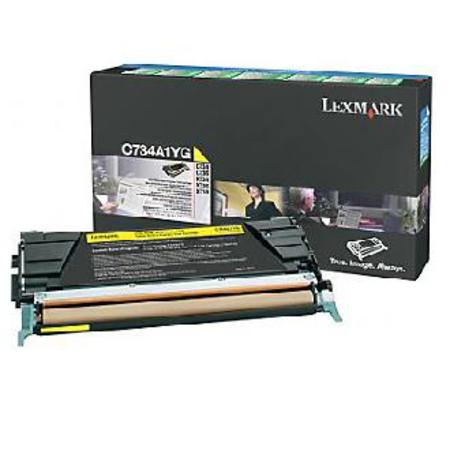 Lexmark C734A1YG Yellow Original Return Program Toner Cartridge