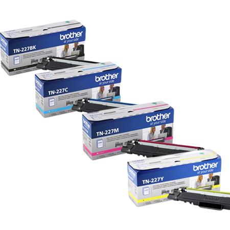 Brother TN227BK/C/M/Y Full Set Original High Capacity Toner Cartridges