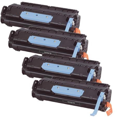106K Black Remanufactured Toner Cartridges Quad Pack