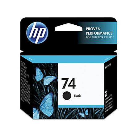 HP 74 Black Original Ink Cartridge with Vivera Ink (CB335WN)
