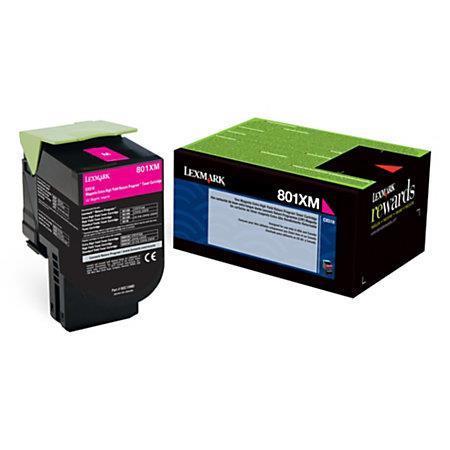 Lexmark 80C1XM0 Magenta Original Extra High Capacity Return Program Toner Cartridge