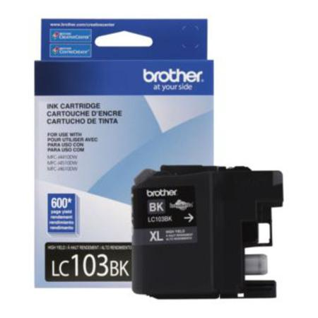 Brother LC103BK Black Original High Capacity Ink Cartridge
