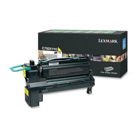 Lexmark C792X1YG Original Yellow Extra High Capacity Return Program Toner Cartridge
