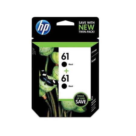 HP 61 (CZ073FN) Black Original Ink Cartridges (Twin Pack)