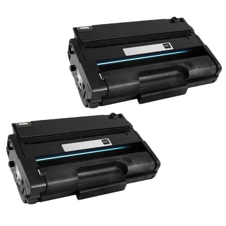 406989 Black Remanufactured Toner Cartridge Twin Pack
