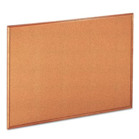 Universal Cork Bulletin Board  48 x 36  Natural  Oak-Finished Frame