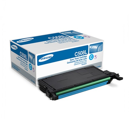 Samsung CLT-C508L Cyan Original High Capacity Toner Cartridge