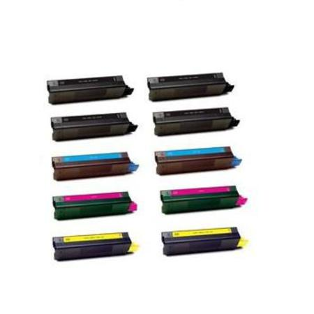 43034801/02/03/04 2 Full Sets + 2 EXTRA Black Remanufactured Toner Cartridges