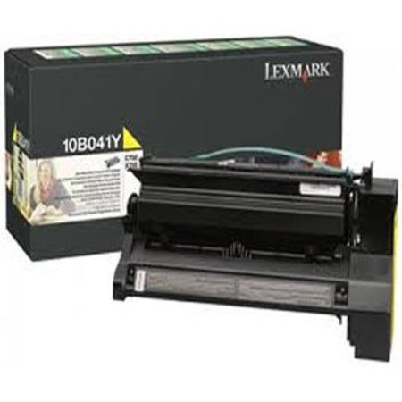 Lexmark 10B041Y Original Yellow Prebate Laser Toner Cartridge