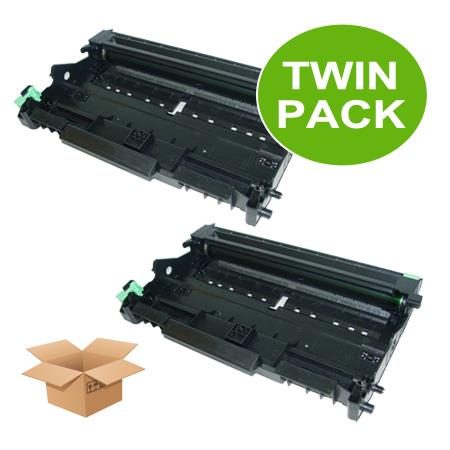 Clickinks DR350 Black Remanufactured Toners Twin Pack