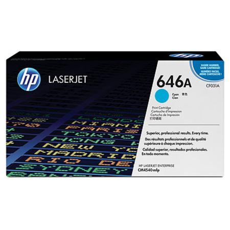 HP 646A Cyan Original Standard Capacity Toner Cartridge (CF031A)