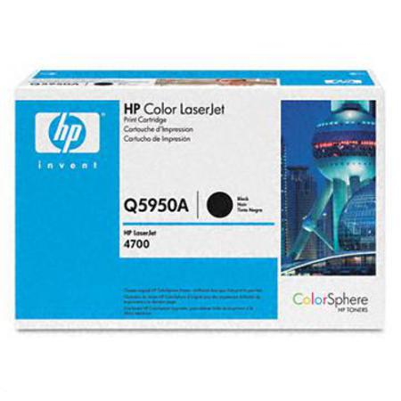 HP Color LaserJet Q5950A Black Original Print Cartridge with HP ColorSphere Toner