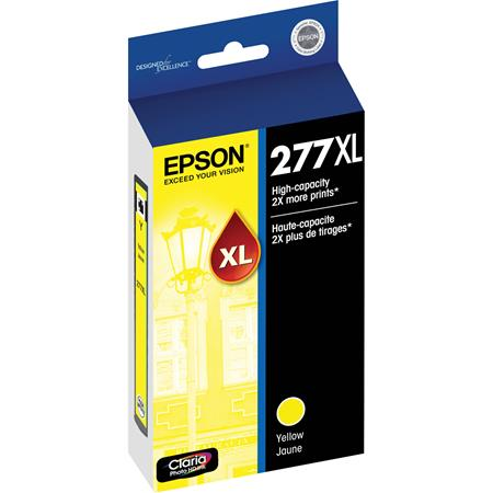 Epson 277XL (T277XL420) Yellow Original High Capacity Claria Ink Cartridge