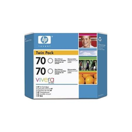 HP 70 (CB350A) Original Gloss Enhancer Ink Cartridge (Twin Pack)