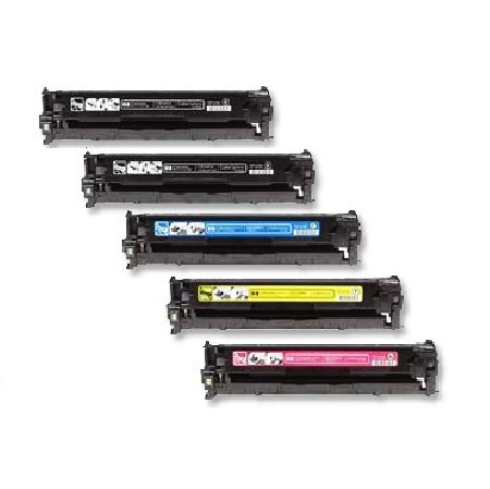 Clickinks CC530A/33A Full Set + 1 EXTRA Black Remanufactured Toner Cartridge