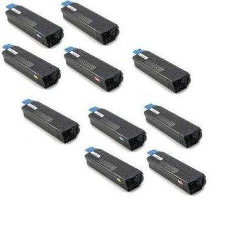 Clickinks 42127401/02/03/04 2 Full Sets + 2 EXTRA Black Remanufactured Toner Cartridges
