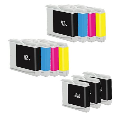 Compatible Multipack Brother LC51BK/C/M/Y 2 Full Sets + 3 EXTRA Black Ink Cartridges